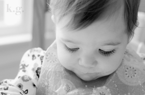 Black and white baby girl lashes