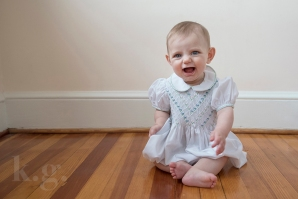 baby girl, sitting, six months, photography, dc