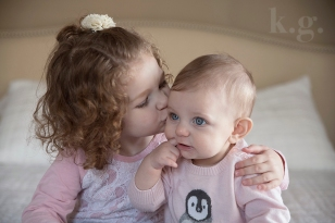 baby girl, six months, sibling, photography