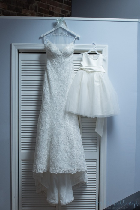 flower girl's and bride's dresses
