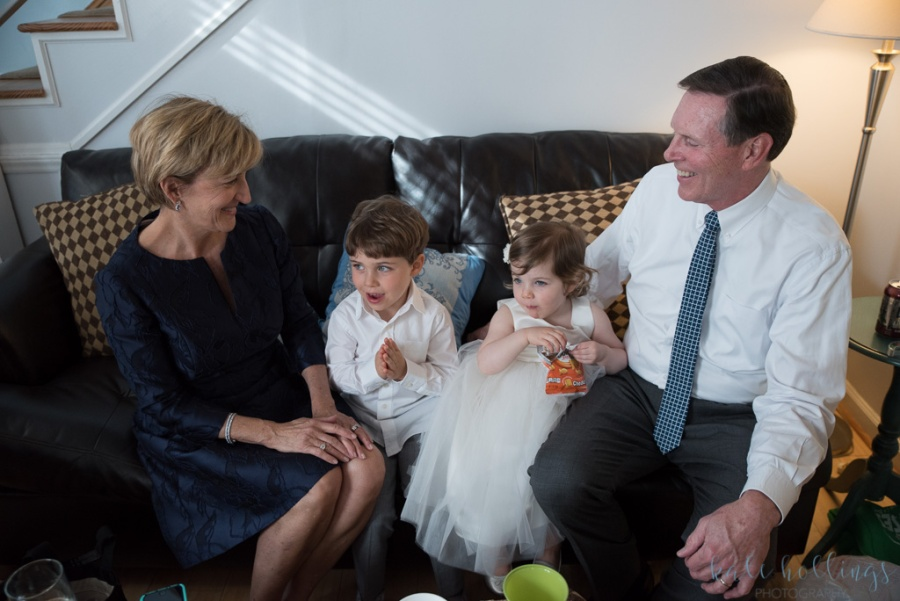 Parents of the groom and grandkids