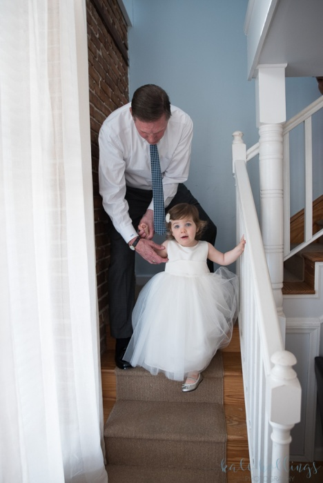 Father of the groom and his granddaughter