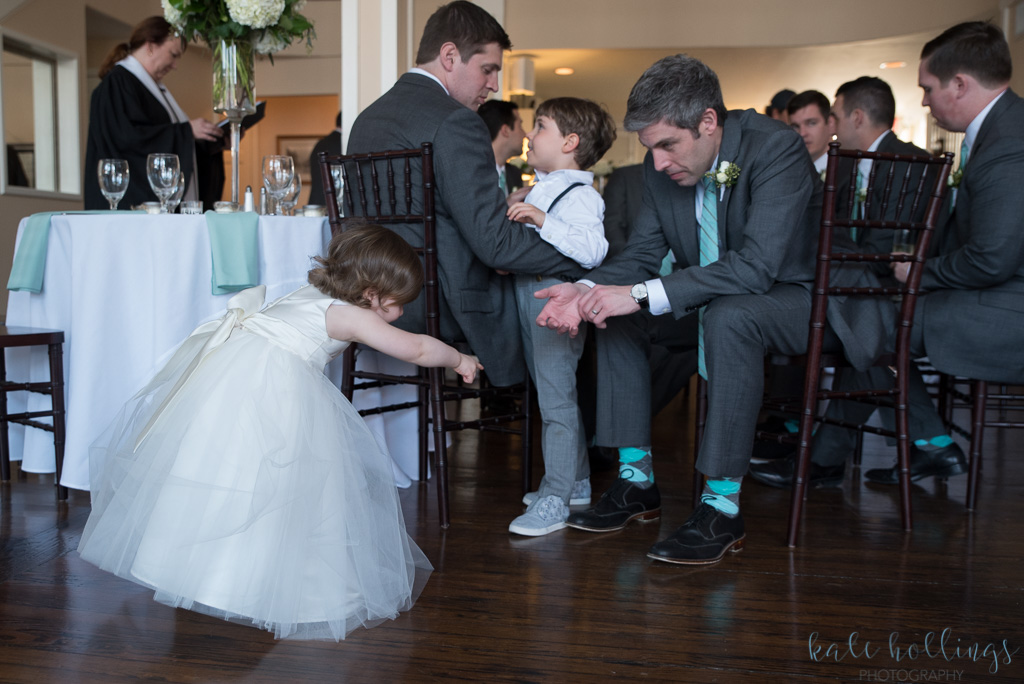 groom and his nephew, groomsman and his daughter