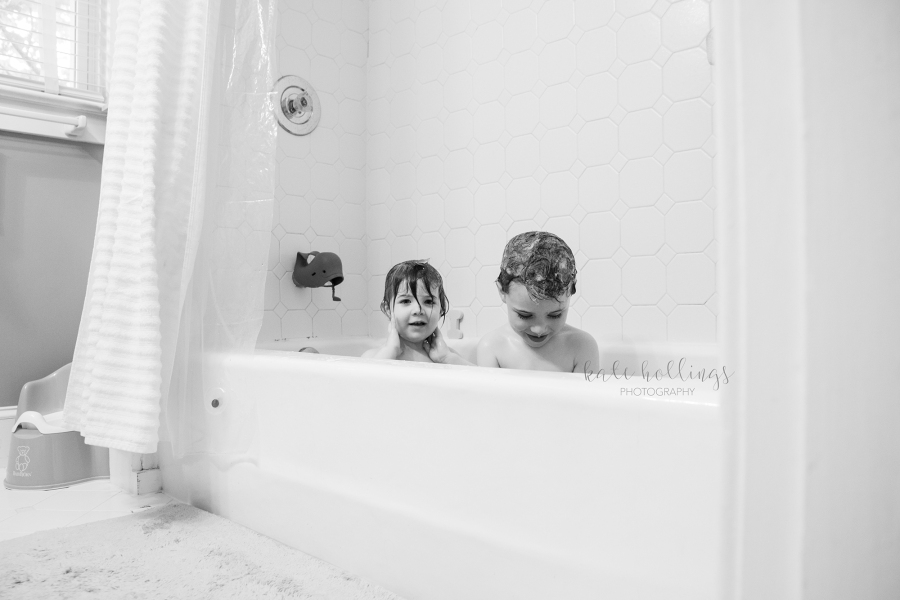 Kids in bath