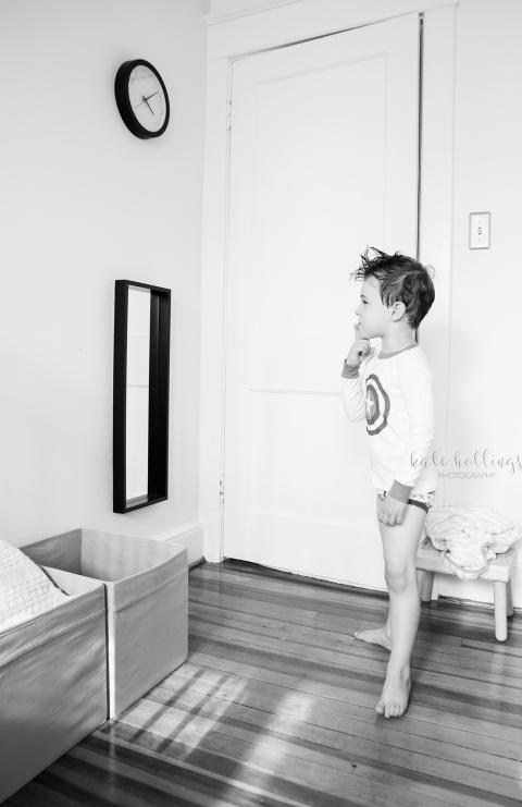 CJ with mirror