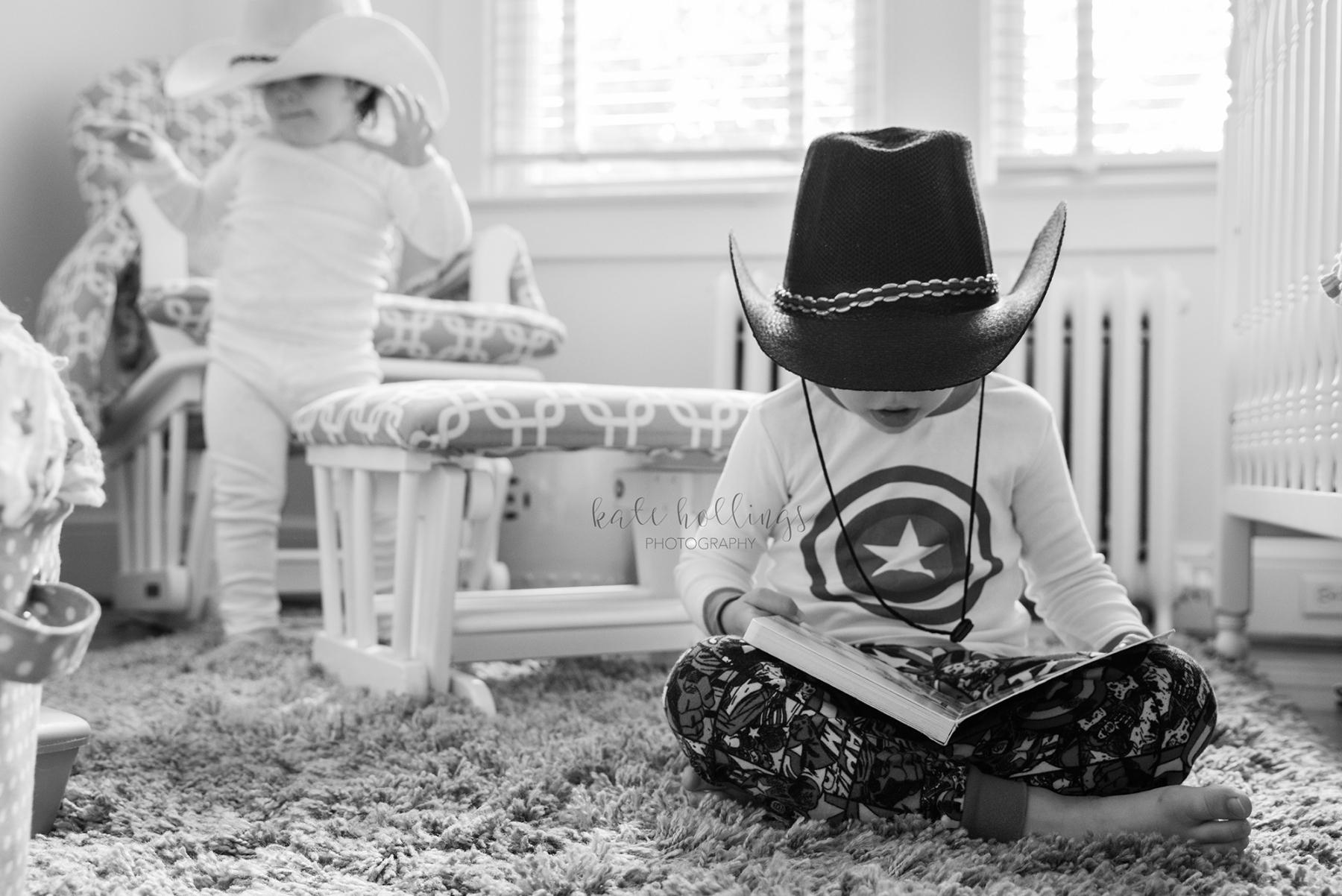 pajamas and cowboy hats