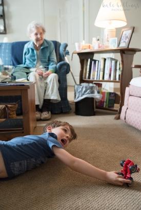 Little Grandma and CJ playing