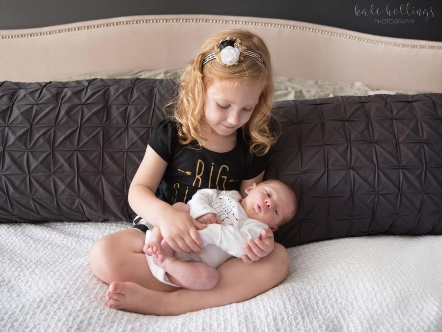 Newborn Baby L and Big Sister