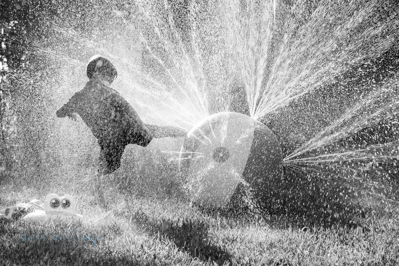 Water play b&w