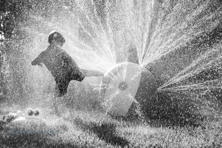 Water play b&w
