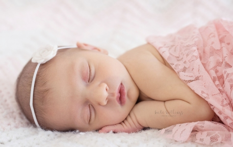 Two Week Old Baby Girl, Roses