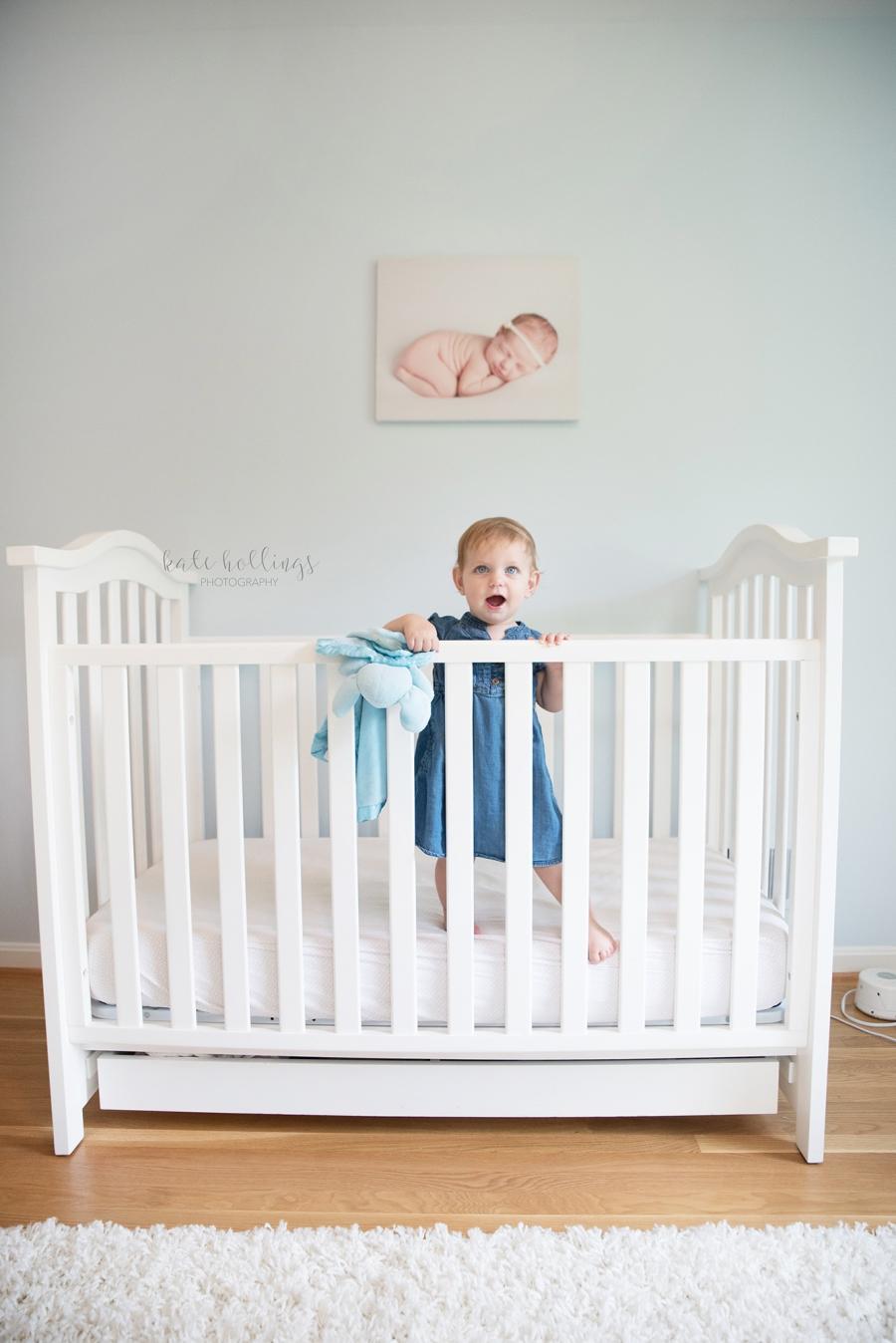 one year girl - in crib