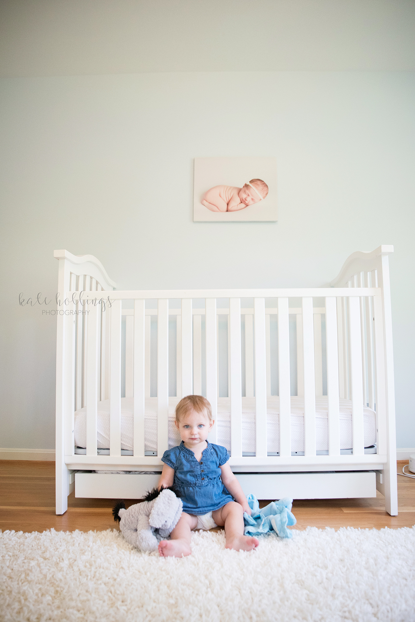 one year girl - crib portrait