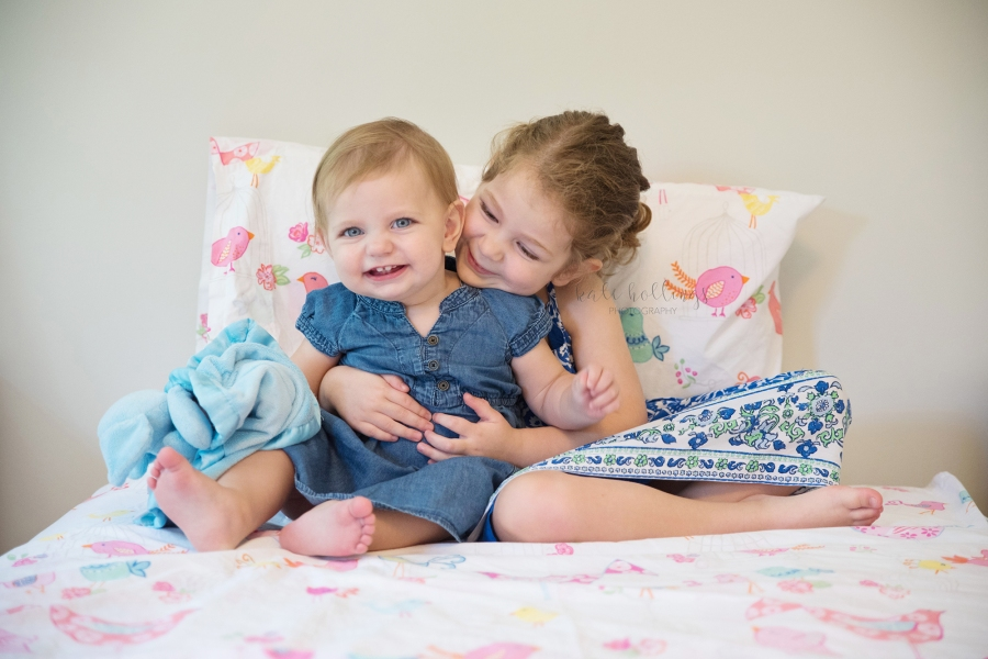 one year girl - with big sister