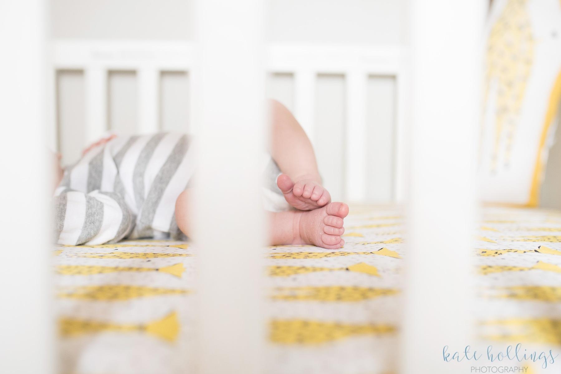 Newborn boy toes