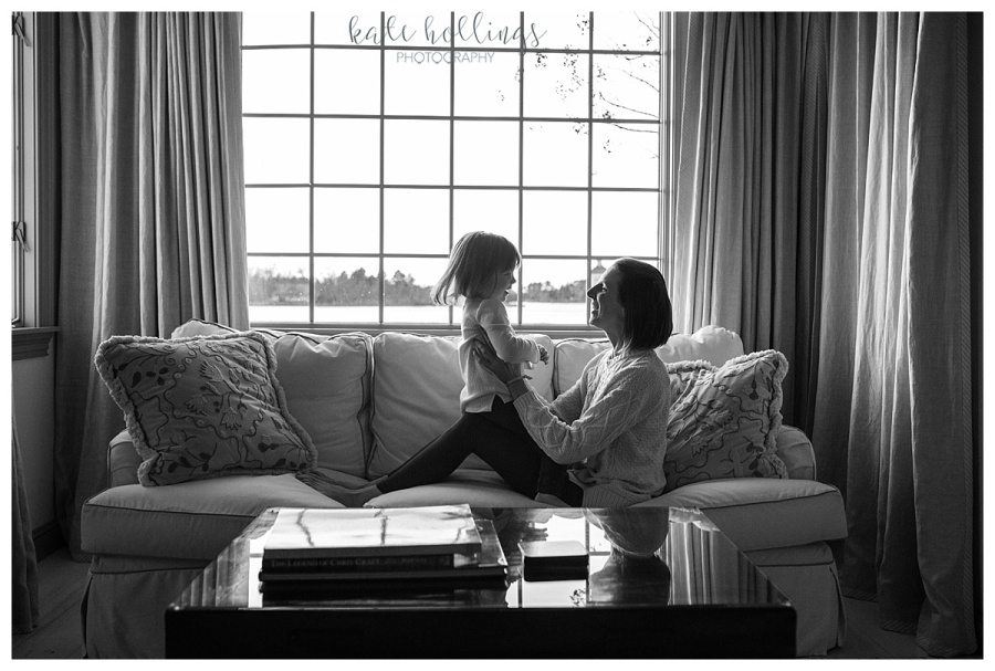 B&W portrait with daughter