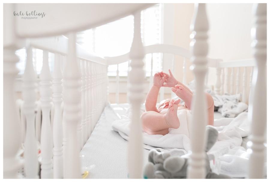 Baby in crib, 4 months
