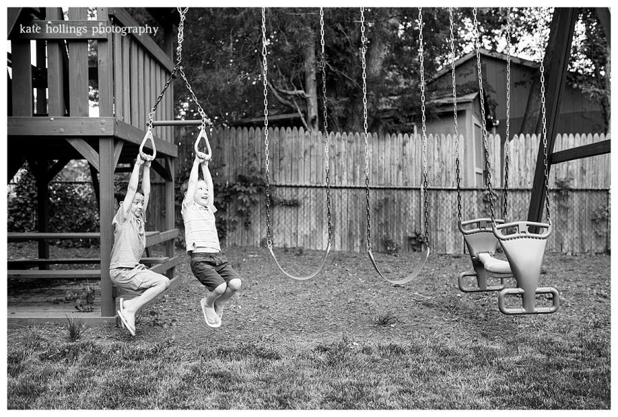 W Family - Swingset Play