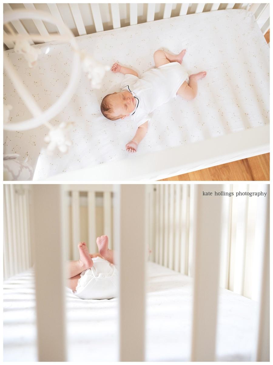 Baby Boy D. in his Crib