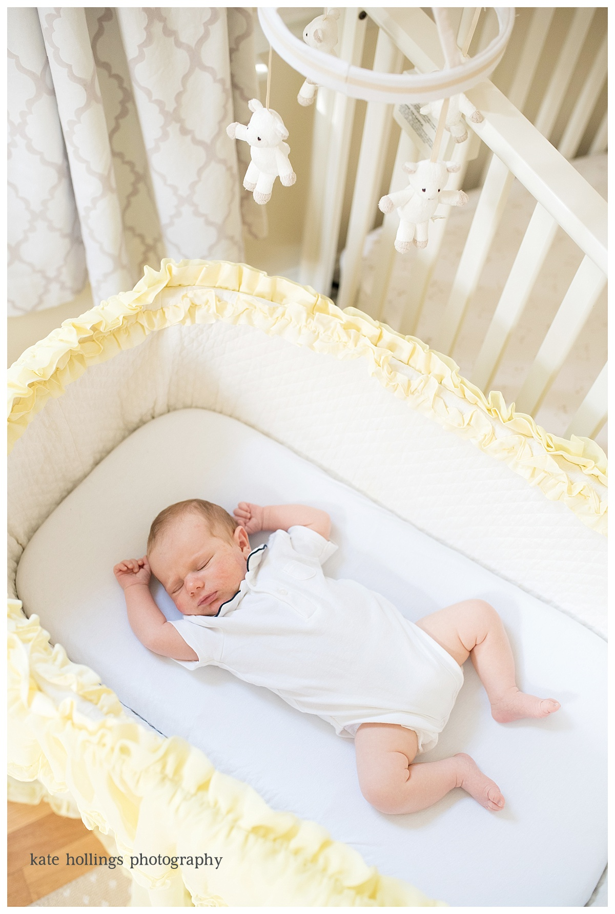Baby Boy D. in Family Bassinet