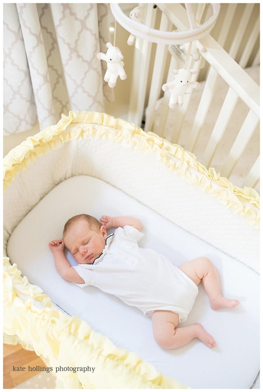Baby Boy D. in Family Bassinet