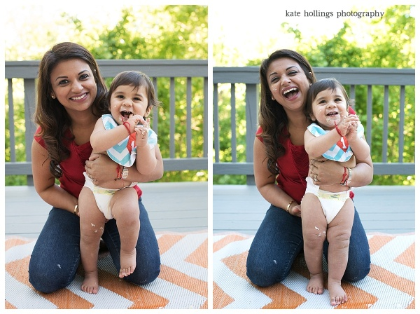Baby D. Turns 1 - Mommy and Son