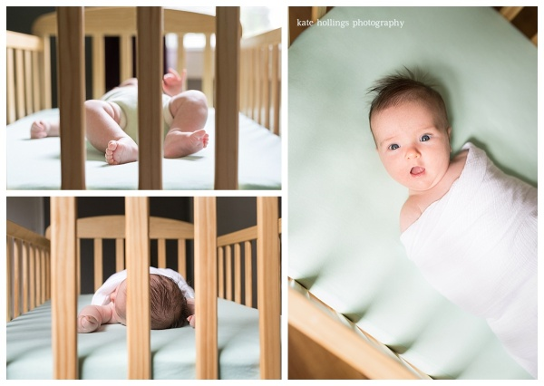 Baby B in Crib